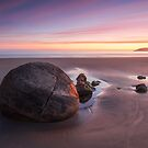 Moeraki Twilight by Michael Breitung