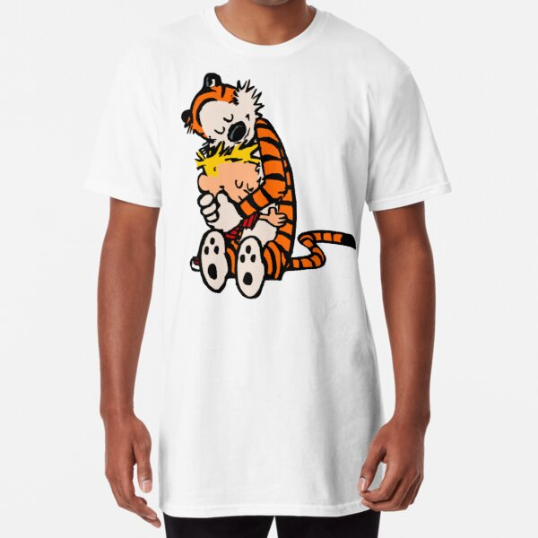 calvin and hobbes had funy hug Long T-Shirt