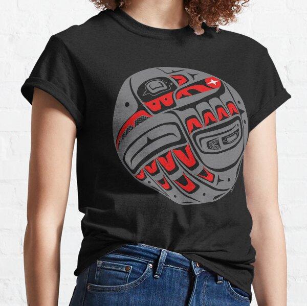 Raven Steals The Sun, style Tlingit, en gris T-shirt classique