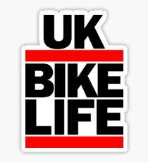 Run UK Bike Life DMC Style Moped Bikelife Motorcycle Gang Red & Black Logo Sticker