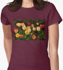 Multicolor Tulip Garden - Enjoying the Beauty of Spring Womens Fitted T-Shirt