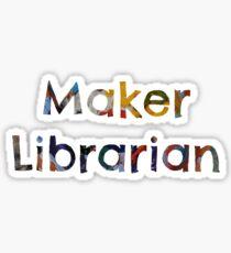 Maker Librarian Sticker
