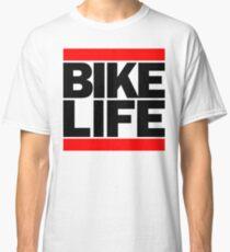 Run Bike Life DMC Style Moped Bikelife Motorcycle Gang Red & Black Logo Classic T-Shirt