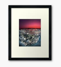 Sunset Over the Red Sea Reef Framed Print