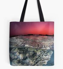 Sunset Over the Red Sea Reef Tote Bag