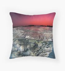 Sunset Over the Red Sea Reef Throw Pillow