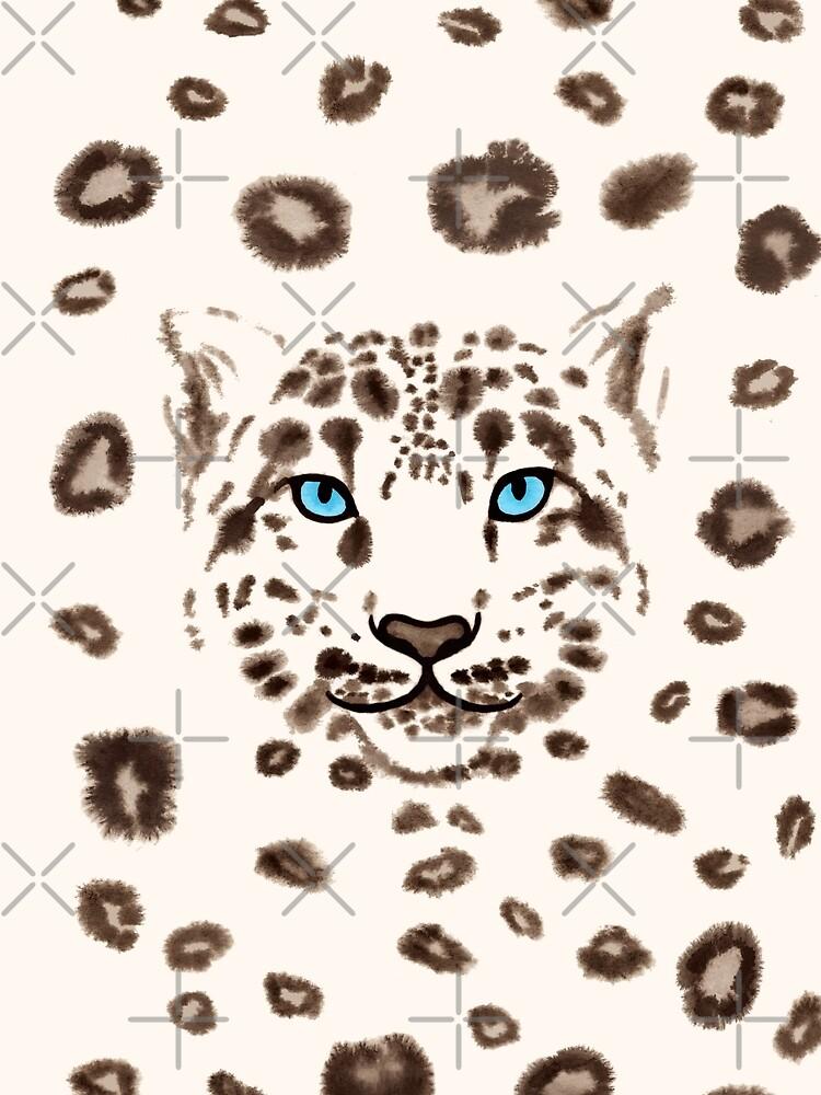 Watercolor Snow Leopard 1 by nadyanadya