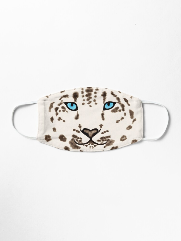 Alternate view of Watercolor Snow Leopard 2  Mask