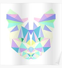 Pastel Crystal Cat Poster