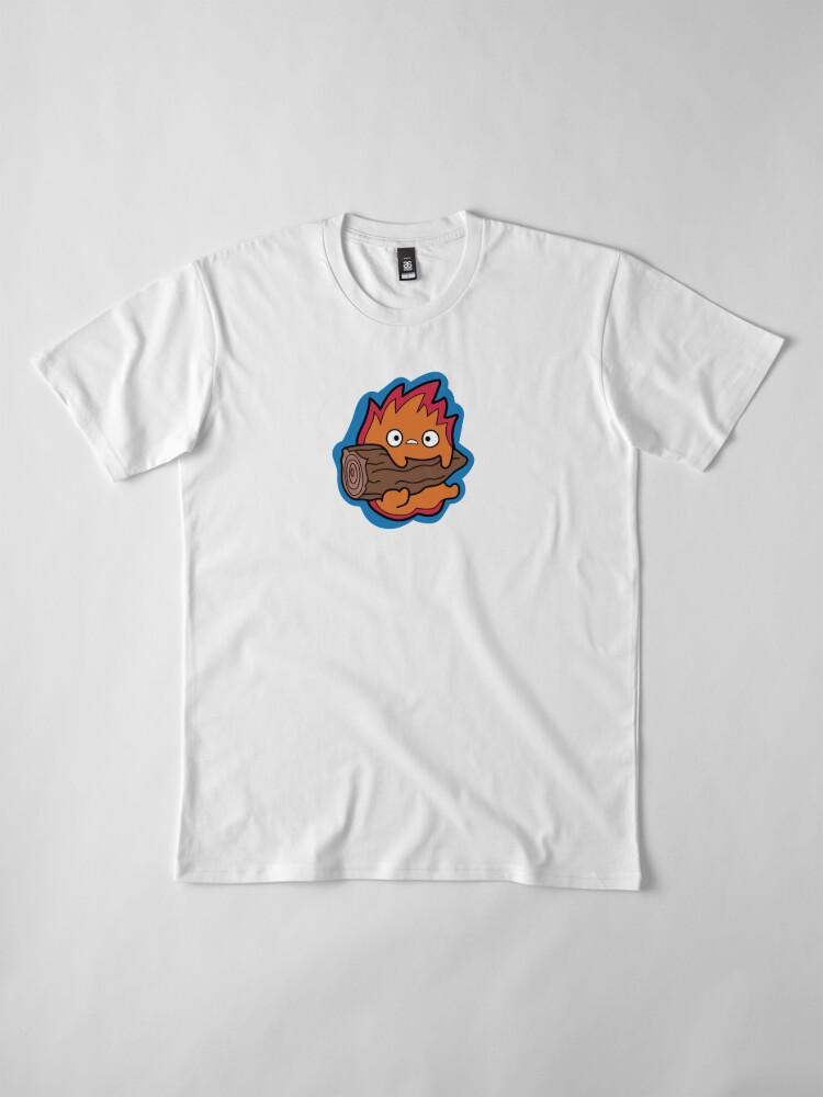 Alternate view of Calcifer Howl's Moving Castle Premium T-Shirt