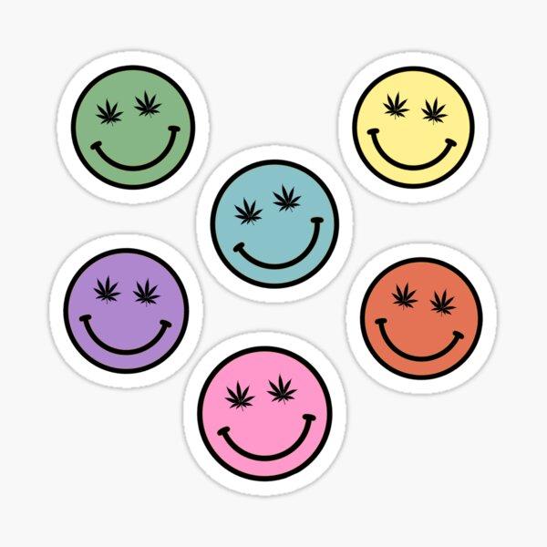 weed smiley sticker pack Sticker