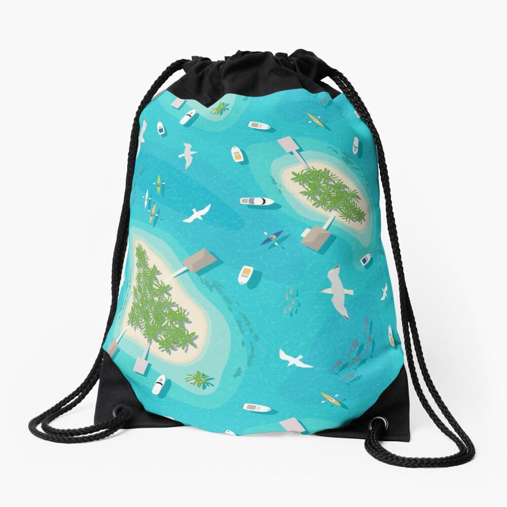 Tropical Islands Drawstring Bag
