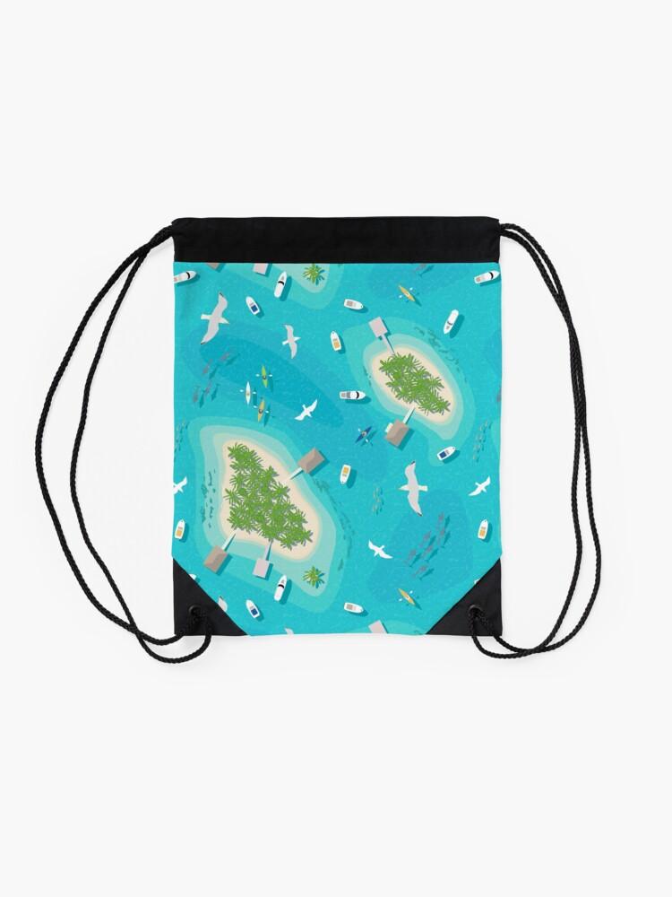 Alternate view of Tropical Islands Drawstring Bag