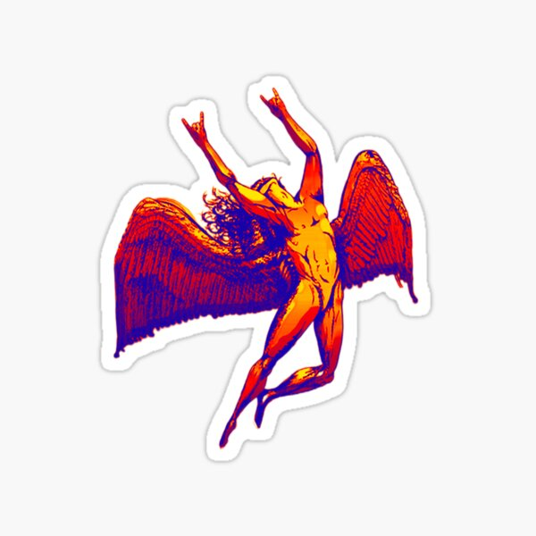 Metal Icarus Gradient Sticker