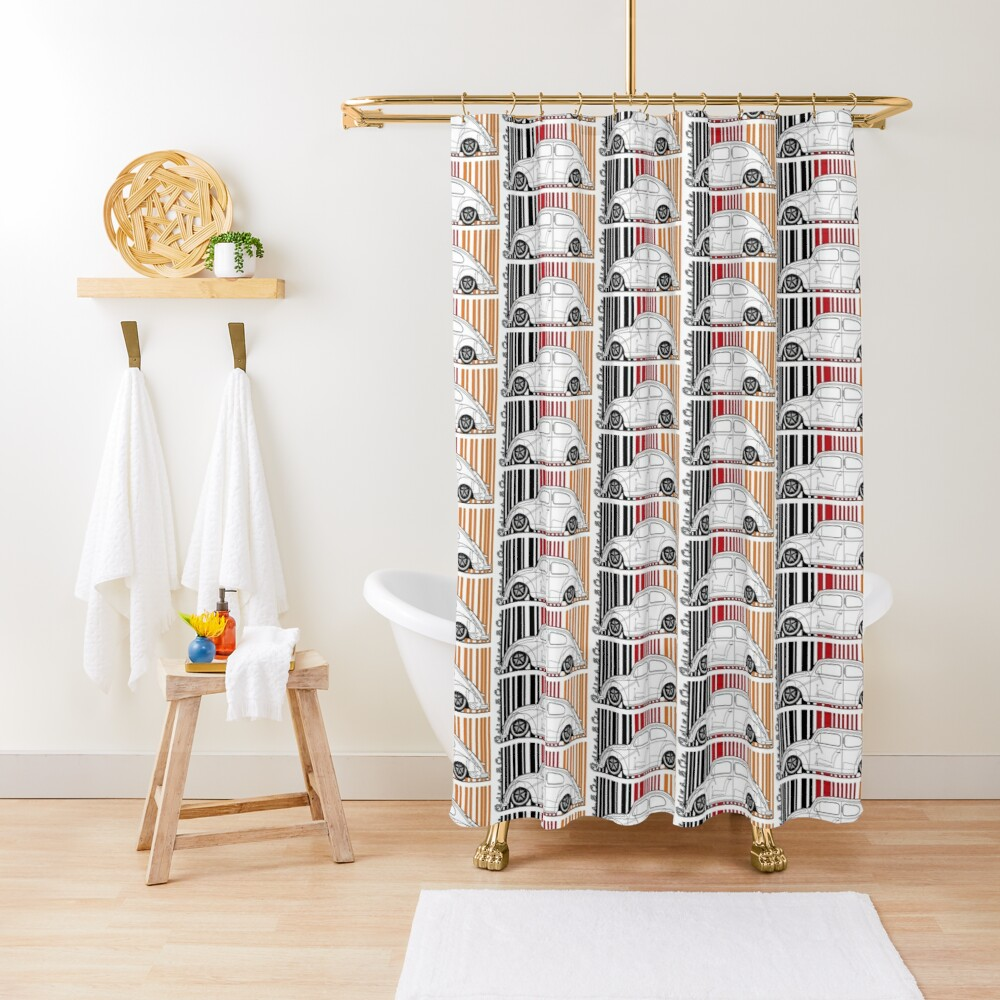 aircooled split Shower Curtain
