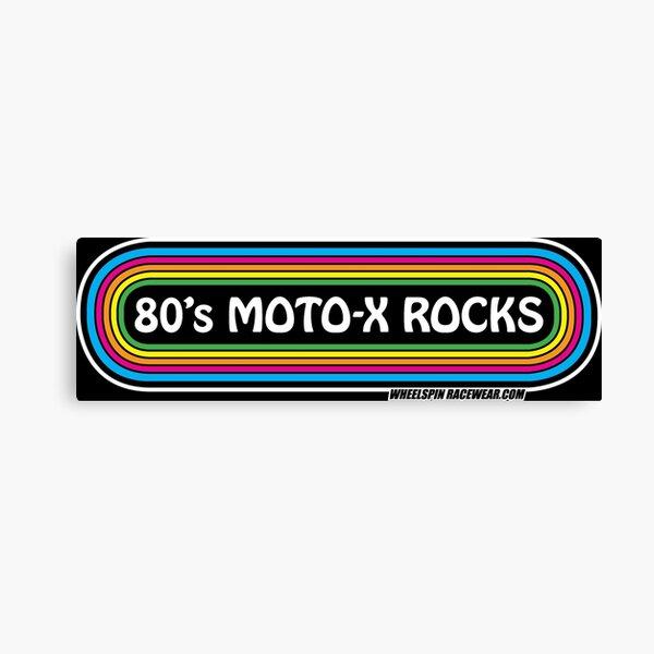 80' MOTO-X ROCKS RAINBOW Canvas Print