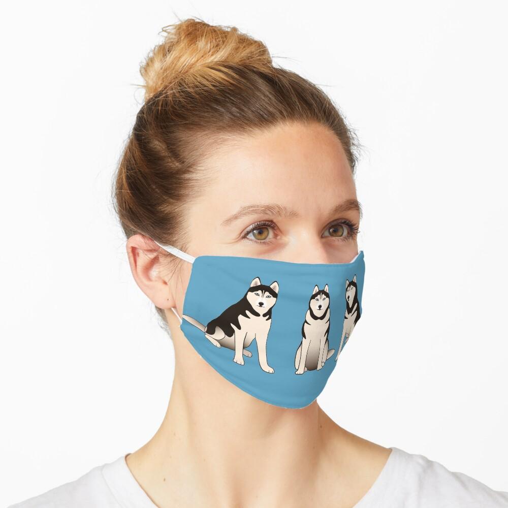 Husky Dogs on blue Mask