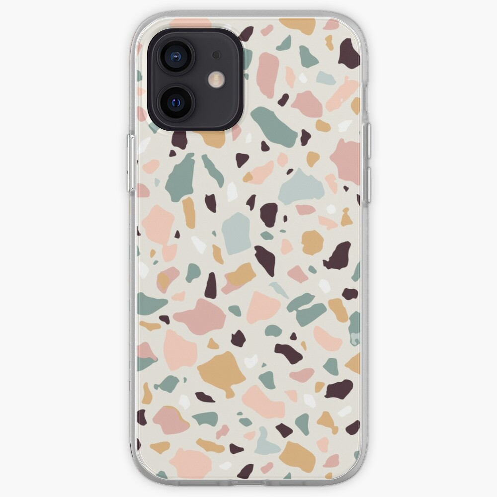 Pink Pastel Terrazzo iPhone Case & Cover