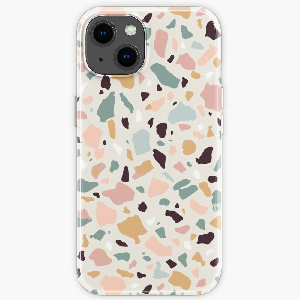 Pink Pastel Terrazzo iPhone Case