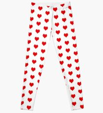 simple red heart Leggings