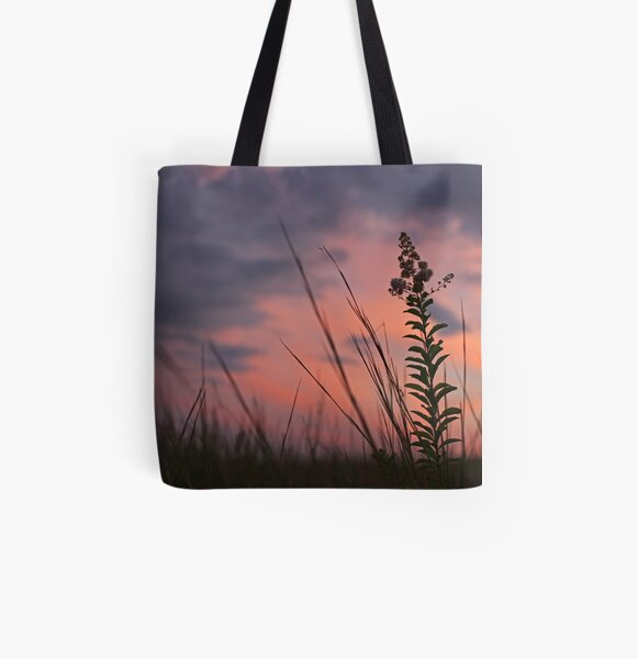 Spider Sunset All Over Print Tote Bag