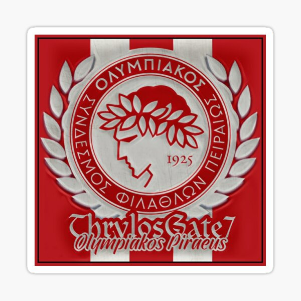 Thrylos Gate 7 Olympiakos Piraeus Sticker By Nicosiachamps26 Redbubble