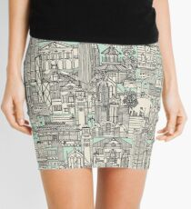 Hong Kong toile de jouy mint Mini Skirt