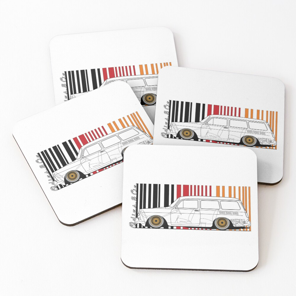 aircooled variant Coasters (Set of 4)