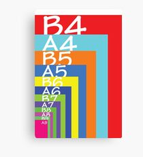 Colourful paper sizes Canvas Print