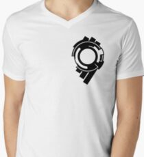 Ghost in the Shell - Public Security Section 9 Logo (Black Logo) Men's V-Neck T-Shirt