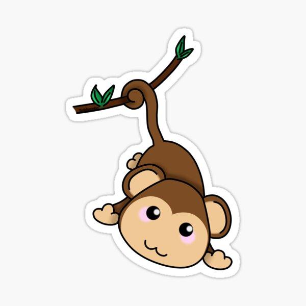 Cute little monkey Sticker