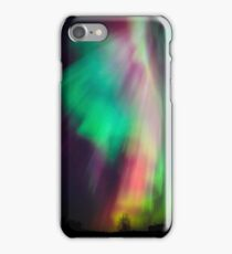 Beautiful multicolored northern lights in Finland iPhone Case/Skin