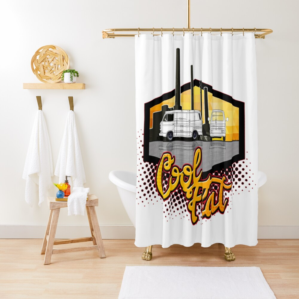 coolflat Shower Curtain