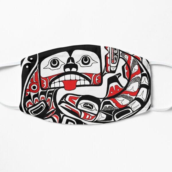 Tlingit style Bear and Salmon PNW Native art Flat Mask