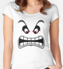 Thwomp face ! Women's Fitted Scoop T-Shirt