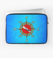 Nautical Dive Compass Laptop Sleeve
