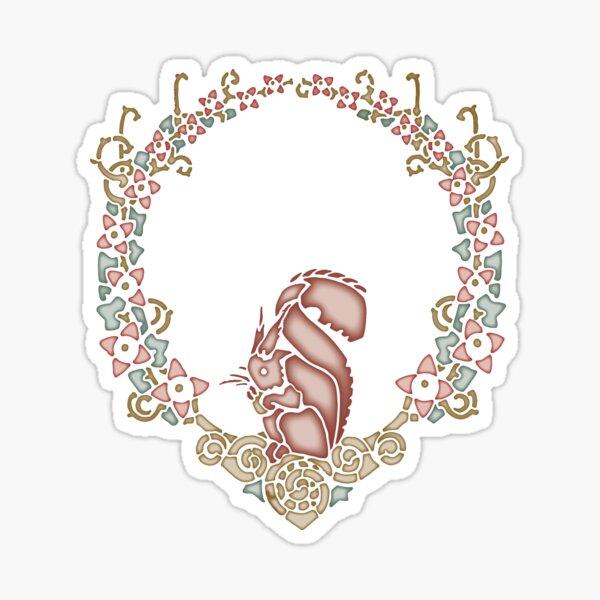 Arts & Crafts Squirrel Sticker