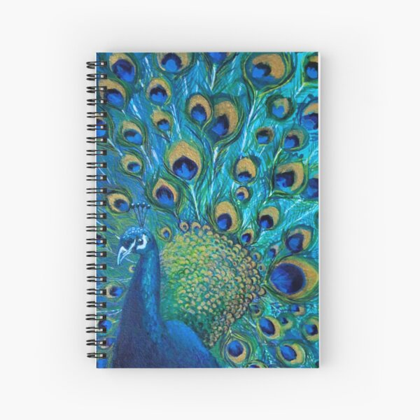 Peacock Full Glory 2 Spiral Notebook