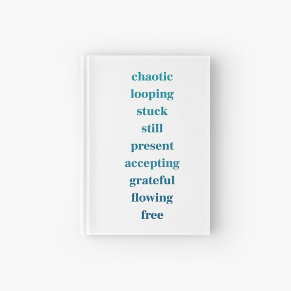 Copy of chaotic to free - teal to navy Hardcover Journal