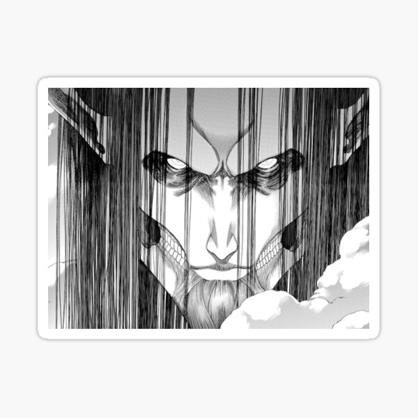 "eren titan originel Original Titan eren"" Sticker von ametsukki  Redbubble"