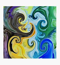 Abstract Curves Decorative Painting Photographic Print