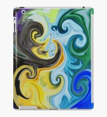 Abstract Curves Decorative Painting iPad Case/Skin