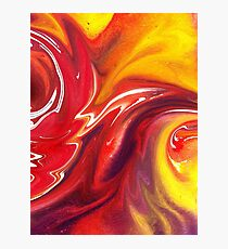 Hot Abstract Flames Decorative Art Photographic Print