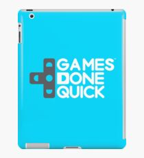 Games Done Quick (GDQ) iPad Case/Skin