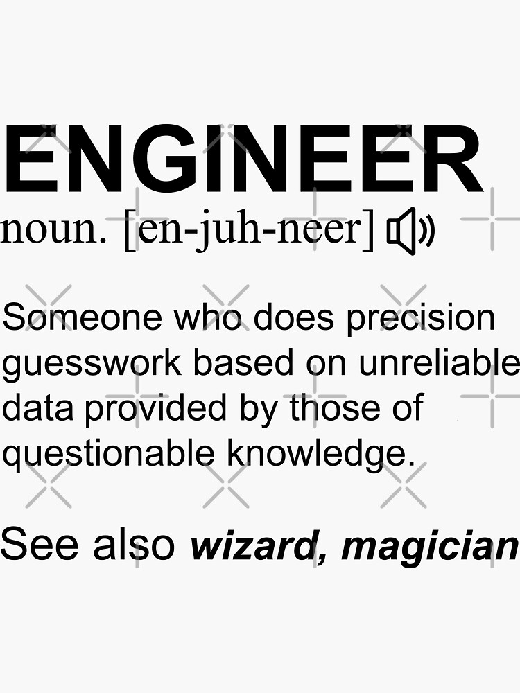 Engineer Definition Black Text Gift Design Design by lois7eunice