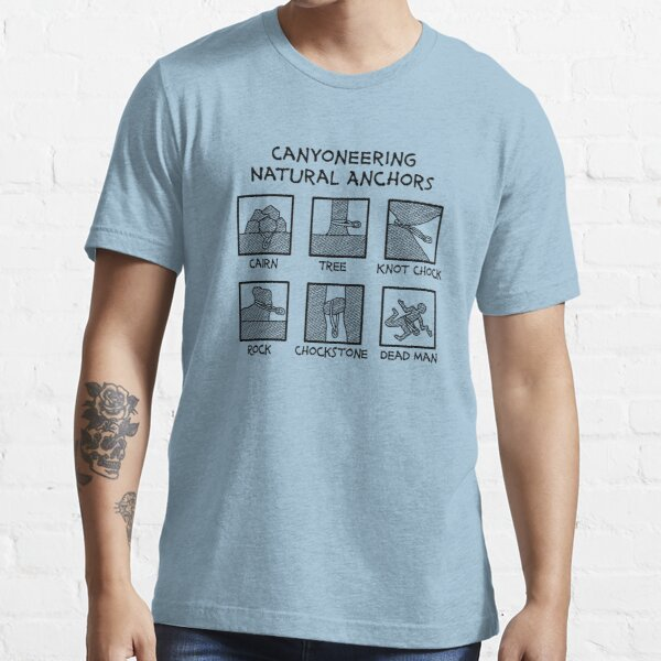 Canyoneering Natural Anchors New Essential T-Shirt