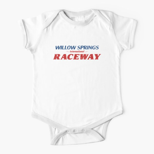 Willow Springs International Raceway Logo Short Sleeve Baby One-Piece