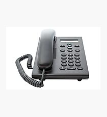 VoIP Phone with LCD Display Photographic Print