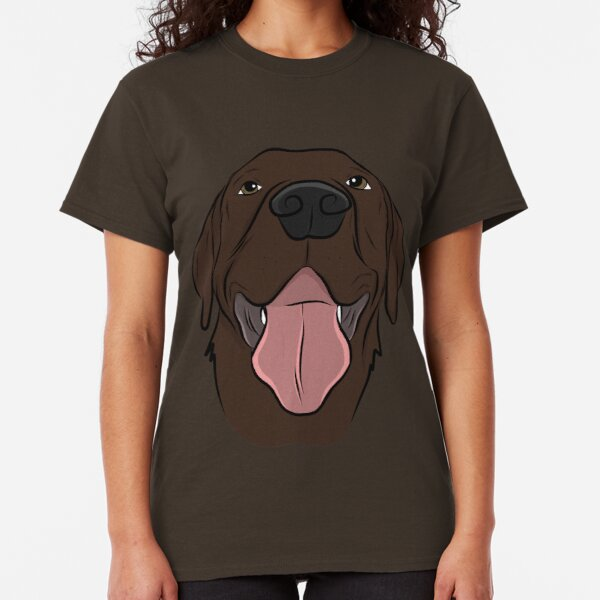 Happy Chocolate Lab  Classic T-Shirt
