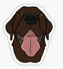 Happy Chocolate Lab  Sticker
